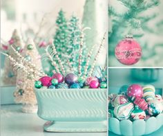 LOVE these bright jewel tones for a holiday centerpiece.