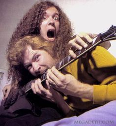 Dave Mustaine and Marty Friedman, circa '95