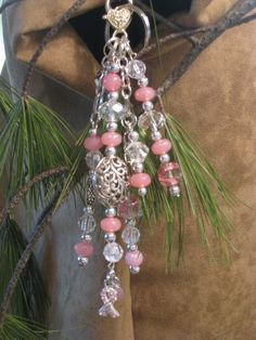 Breast Cancer Awareness Purse Charm