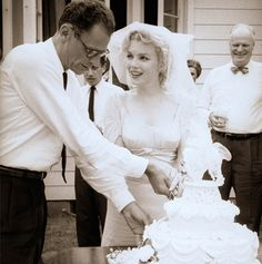 Today in 1956 Marilyn Monroe married Arthur Miller in a beautiful ceremony at the home of Miller's agent.