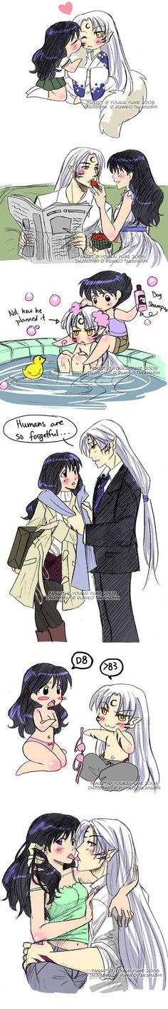 Kagome and seshoumru in the real world part 1