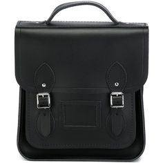 The Cambridge Satchel Company The Small Portrait Backpack (€155) ❤ liked on Polyvore featuring bags, backpacks, black, knapsack bags, black bag, black backpack, the cambridge satchel company and backpacks bags