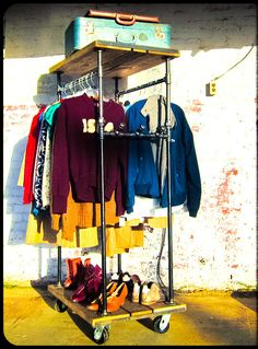 Tall Boy Industrial Garment Rack