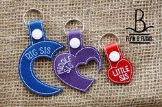 Big-Middle-Little Sister/Three Sisters Key Fob/Snap Tab/KeyChain by FlyinBFarmsLLC on Etsy