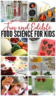 10 Super Fun and Edible Food Science Experiments for Kids - fun science activities that taste yummy, too! Perfect for homeschool or just for some learning fun at home. Food Science Experiments, Preschool Science, Science For Kids, Science Projects, Science Fun, Science Classroom, Science Ideas, Physical Science, Earth Science