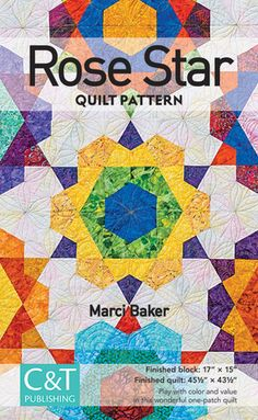 """Slice a stack of simple teardrops for a hexagonal quilt with unlimited possibilities. Understand color placement and value like never before with best-selling author Marci Baker. Rotary cutting is even easier with the Clearview Triangle 60° Acrylic Ruler in any size–6"""", 8"""", 10"""", or 12""""–or the Clearview Triangle Super 60!"""