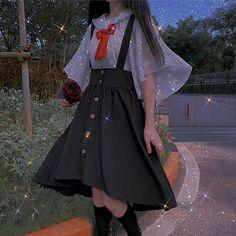 Pretty Outfits, Pretty Dresses, Beautiful Dresses, Cool Outfits, Old Fashion Dresses, Girls Fashion Clothes, Fashion Outfits, Kawaii Fashion, Cute Fashion