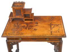Gabriel Frédéric Viardot FL 1860A Carved Mahogany Petit Secrétaire Paris L | eBay