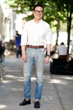 When in doubt, put on a white OCBD, a pair of quality denim, and smile like nothing else matters. – Wardrobe Ministry