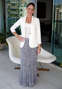 How to wear long skirt