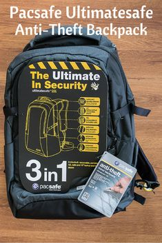 Find out why I never travel without this Pacsafe anti-theft backpack. It's chock full of features to outsmart pickpockets and bag snatchers. Backpack Reviews, Backpack Brands, Pacsafe Backpack, Anti Theft Backpack, Travel Bags, Travel Packing, Solo Travel, Travel Ideas, Shopping Travel