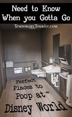 Perfect Places to Poop at Disney World. #disneyworld #wdw