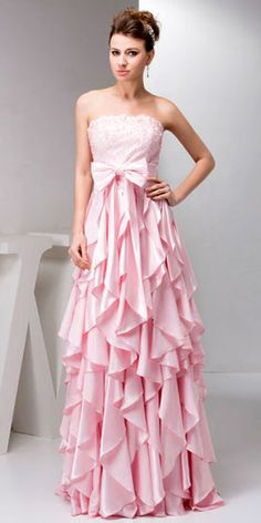 pink prom dress  // white & diamond accessories