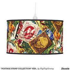 """POSTAGE STAMP COLLECTION"" PENDANT LAMP"