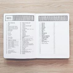 table of contents bullet journal layout * table of contents bullet journal Bullet Journal Table Of Contents, Bullet Journal Index Page, How To Bullet Journal, Bullet Journal Ideas Pages, Bullet Journal Spread, Bullet Journal Inspo, Bullet Journal Layout, My Journal, Journal Covers