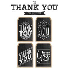 Free printable thank you favor tags free printable free and free printable thank you chalkboard tags a happy thanksgiving negle Images
