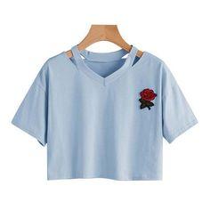 Summer Crop Tops, Summer Shirts, Crop Top Shirts, Tee Shirts, Tees, Casual Tops, Casual Shirts, Cotton Tee, Cotton Fabric