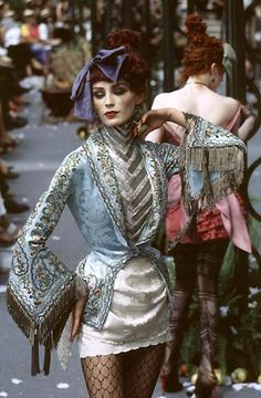 1997-98, Galliano for Dior Couture show. I like this as a look for a subculture in New Angeles.