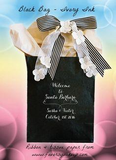 Wedding Guest Gift Bag Personalized Wedding by WelcomeBagsWeddings
