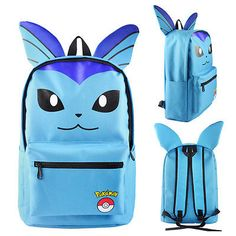e4b777c363e1 Pokemon Pikachu Eevee Umbreon Bag Backpack+Ears Large School Kid s Rucksack  UK