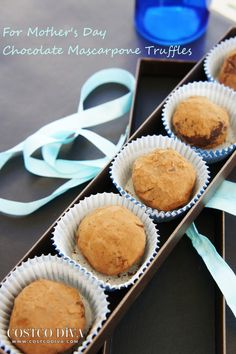 Chocolate mascarpone truffles - a great gift idea for Mother's Day.  They're super easy to make and are divine!