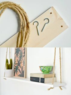 Diy hanging planter, diy gifts, home projects, diy room decor, home dec Home Decor Bedroom, Interior Design Living Room, Diy Room Decor, Diy Hanging Planter, Planters, Diy Home Decor Rustic, Hanging Shelves, Decoration, Home Projects