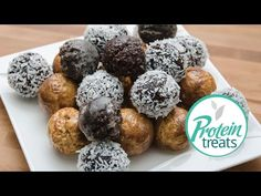 Chocolate Coconut Protein Slimbits Timbits - YouTube