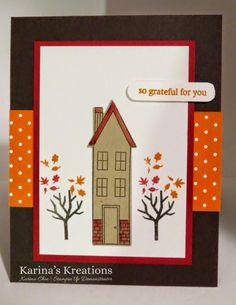 Stampin'Up Holiday Home card!