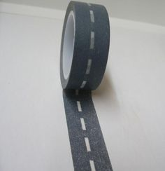 Fun for little boys and their toy cars (road patterned tape)