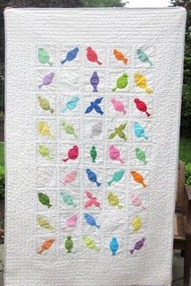 the other side.by Pink Please!Love to see all the batiks for the birds