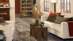 Hand-Crafted Collection of Inverness Stonehenge Walnut Hardwood by Mannington | Alabaster Color (16345)