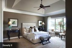 Schumacher Homes America's largest custom home builder-Beverly II Love this master bedroom and the wall color