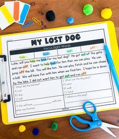 Sight Word Practice, Sight Words, Kindergarten Classroom, Classroom Activities, 2nd Grade Teacher, Reading Fluency, Class Room, Losing A Dog, Dyslexia