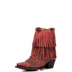 Women's Redneck Riviera Red Pepper Fringe Boot - Vintage Red