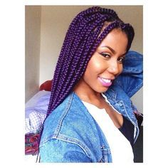 Love the purple Braids With Extensions, Braids With Weave, Twist Braids, Faux Braids, Hair Twists, Long Braids, Faux Locs, Purple Box Braids, Purple Hair