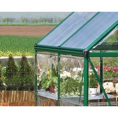 Palram Hybrid 6 Ft. W x 6 Ft. D Greenhouse & Reviews   Wayfair Polycarbonate Greenhouse, Polycarbonate Panels, Greenhouse Frame, Roof Vents, Steel Panels, Plant Growth, Diffused Light, Framing Materials, Galvanized Steel