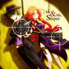 "ANSATSU KYOUSHITSU/ASSASSINATION CLASSROOM, Fanart, ""Mr. & Ms. Sniper"" Chiba Ryuunosuke, Hayami Rinka"