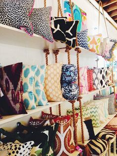 Furbish Studio, Raleigh, NC, pillow display, retail styling,