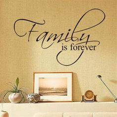 Family Is Forever Wall Quote Decal //Price: $ 9.95 & FREE shipping //  #interiordesign #interior #walldecal #wallsticker #wallstickermurah #decor #walldecor #walldecals #homedecor #wallart #design #decor #wallstargraphics