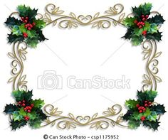 by Irisangel (Image and illustration composition for Christmas holiday card, border, background or template)