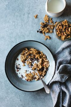 Peanut Butter Granola with Cacao Nibs and Bittersweet Chocolate {gluten-free, vegan}