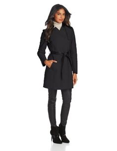 French Connection Women's Inverted-Collar Belted Trench own this.  love it.