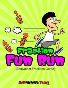 #Fraction Fun Run (Equivalent Fractions Game) http://www.teacherspayteachers.com/Product/Fraction-Fun-Run-Equivalent-Fractions-Game-1410683 #math