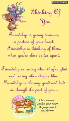 Thinking of you friendship quote hello friend friendship quote friend quote poem thinking of you graphic friend poem Special Friend Quotes, Friend Poems, Best Friend Quotes, Friend Sayings, Special Friends, Friend Gifts, Friend Cards, Close Friends, Friendship Poems