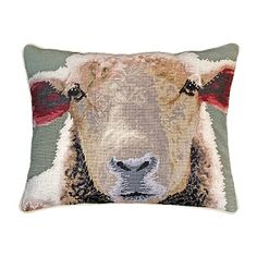 Get ready to fall in love with Indeed Deco's Sheep Needlepoint Pillow