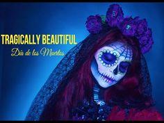 Amazing Sugar Skull Makeup   Halloween   Tragically Beautiful - YouTube