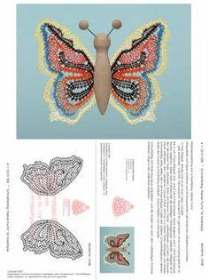 Mariposa Butterfly, Crochet Butterfly, Lace Patterns, Crochet Patterns, Lace Making, Bobbin Lace, Diy Crochet, Crafty, Tattoos