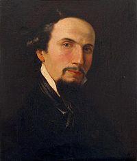 """João Cristino da Silva (1829 - 1877), """"Auto-retrato"""" c. 1855"""