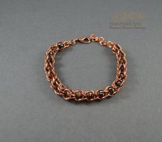 Chainmaille bracelet chainmail copper bracelet by SzkatulkaAmi