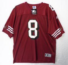 NOS Vintage Starter Jersey  8 STEVE YOUNG San Francisco 49ers Sz 52 XL NEW  1998 949e367e9